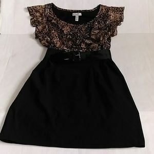 Dressbarn women's 👗 12P black and leopard print